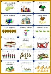 English worksheet Collective nouns 1 of 2 238167