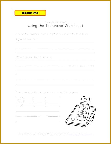 using the phone worksheet 601465