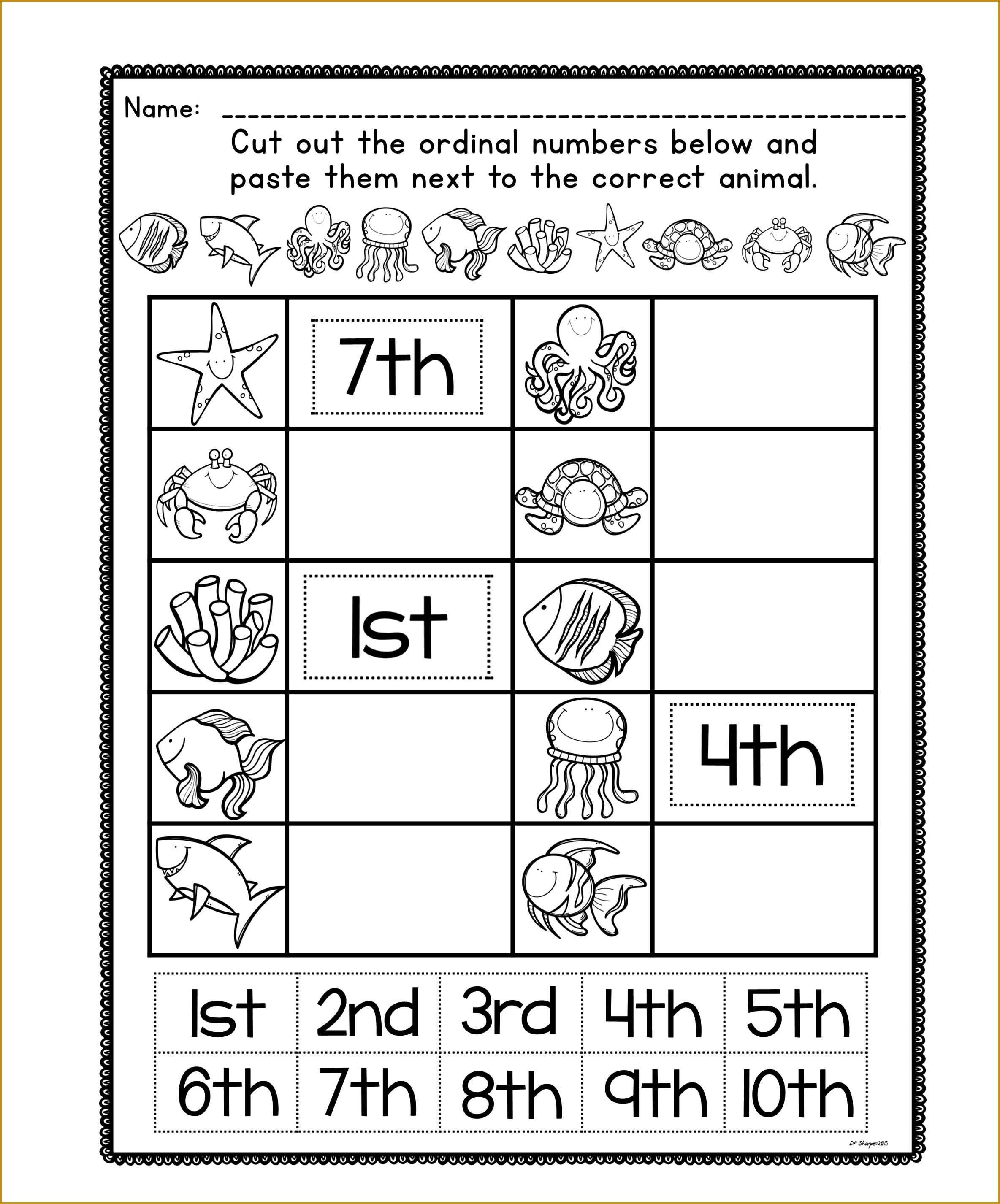 Ordinal Number Posters and Worksheets 23692853