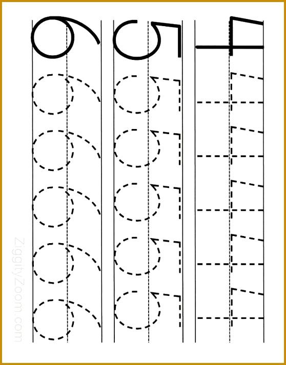 Number Tracing Worksheet 4 6 713558