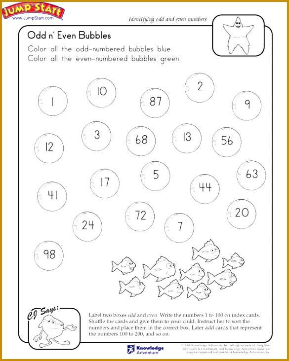 Math Worksheets Even And Odd Numbers 732585