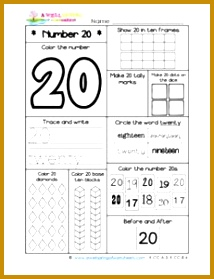 Number Worksheets Number 20 Worksheet 214279