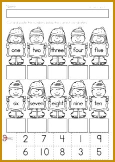 Kindergarten Winter Math Worksheets & Activities Winter No Prep A page from the unit 325230