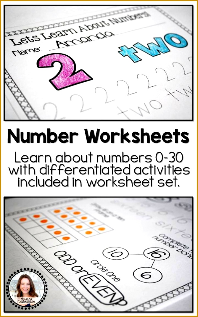 Let s Learn About Numbers Number Worksheets 0 30 This product includes worksheets for all 1071669