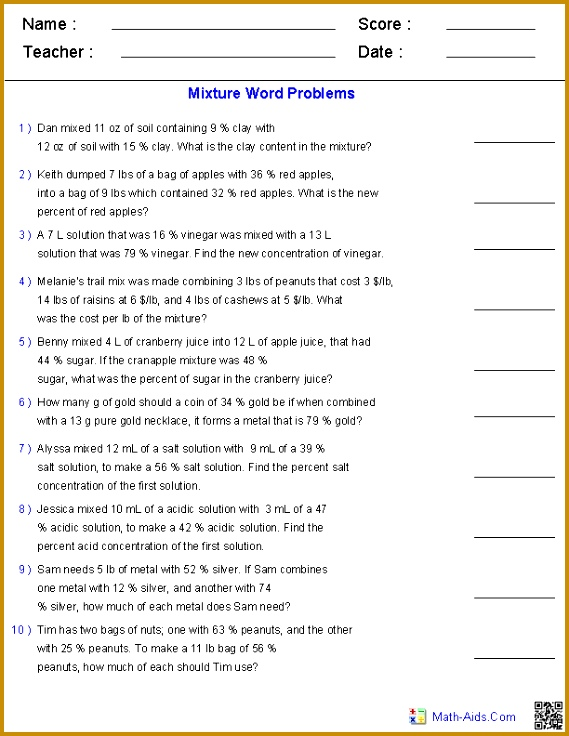 Systems Linear Equations Word Problems Worksheet Worksheets for all Download and Worksheets 736569