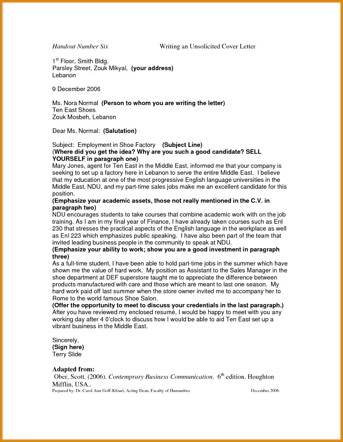 Occupational Therapy Assistant Cover Letter Sample 15531204