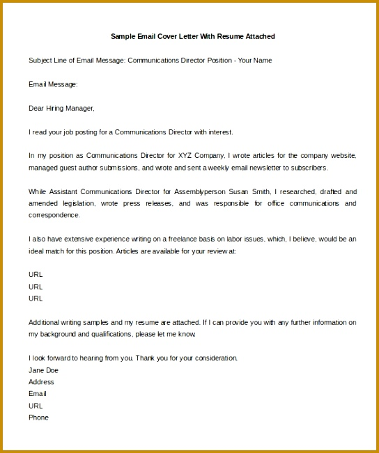 Format Samples Email Cover Letters Job Application Emailmple 544651