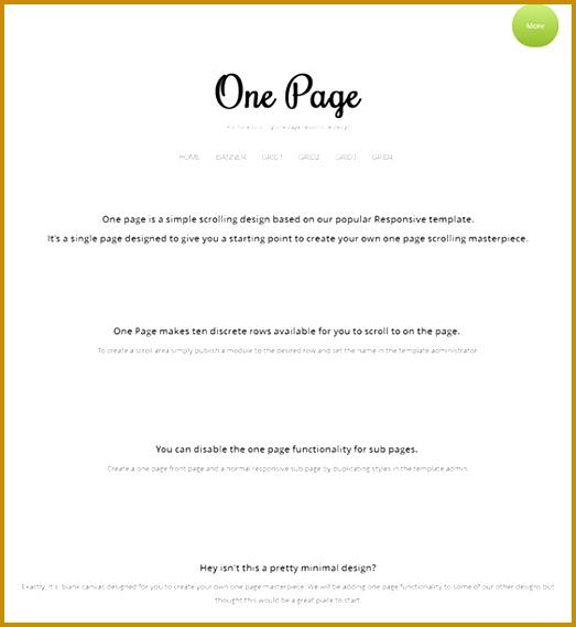one page single page joomla template 569523