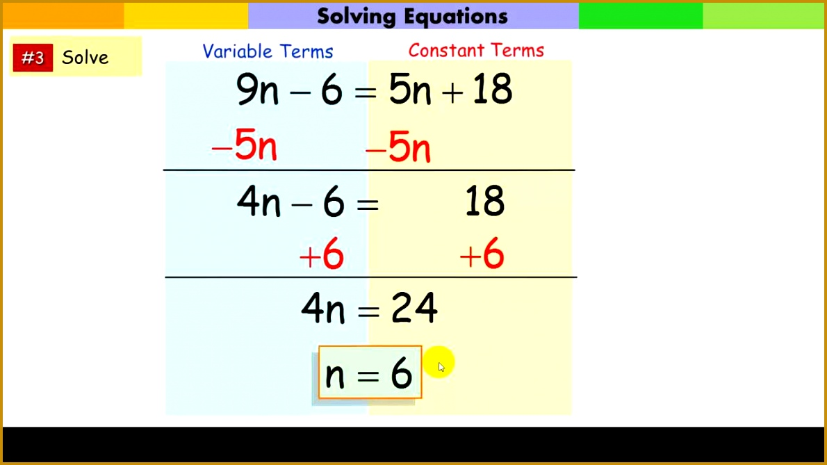 Solving Multi Step Equations 6691190