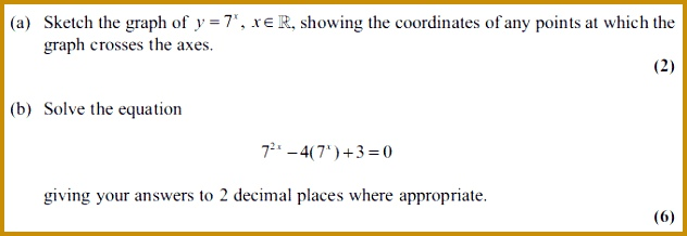 Edexcel C2 January 2011 – Q8 218632