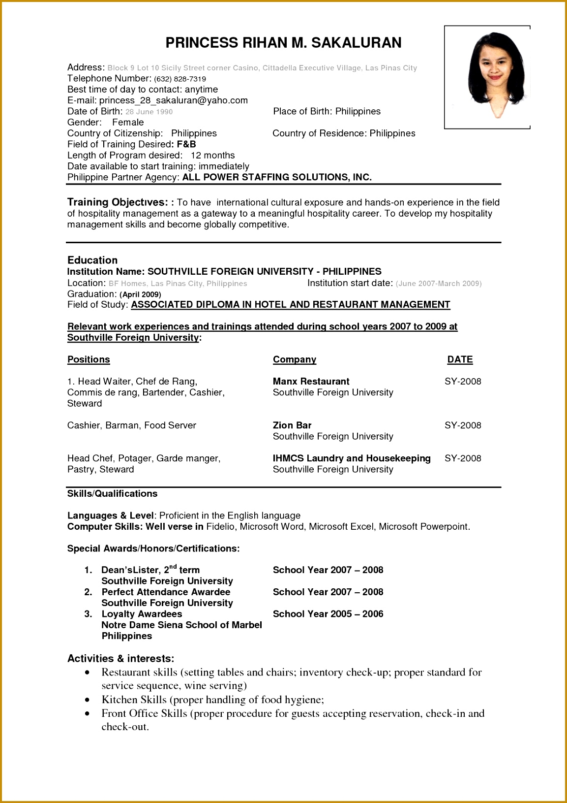 Astonishing Ideas Resumes Examples Lofty Beautiful And Simple Resume Template For All Job Seekers Sample 16311153
