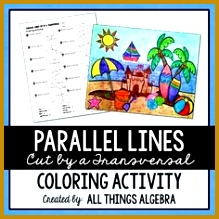 Fall Angles Formed by Parallel Lines Cut Paste Solve Match Puzzle Activity 219219