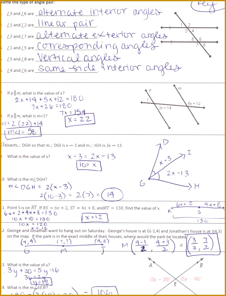 Parallel Lines Proof Worksheet Answers Worksheets for all Download and Worksheets 971744