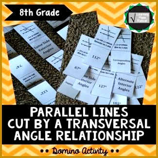 Parallel Lines Cut By A Transversal Domino Activity 8 G A5 325325