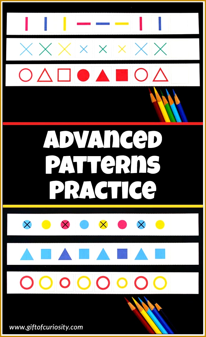 Advanced patterns worksheets for kids fun practice with plex patterns 1116683