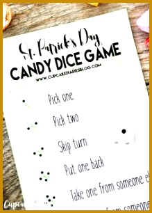 St Patrick s Day Candy Dice Game 306219