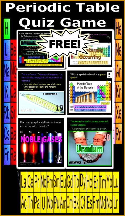 Students can choose to have the periodic table hand easy or run it without harder Answers and worksheet provided 821476