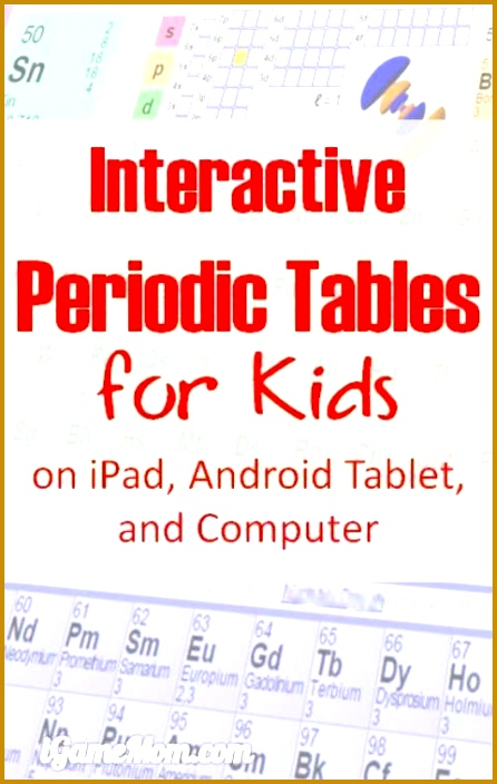 8 Interactive Periodic Table with Names Chemistry Learning Tools for Kids 704446