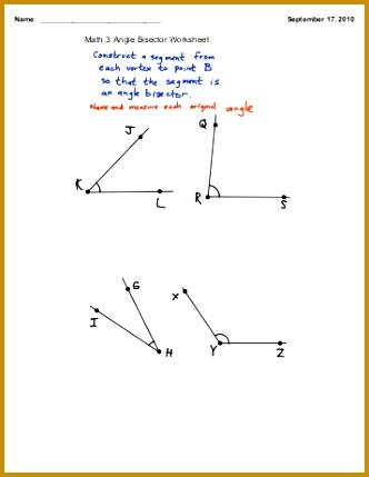 Math 3 Angle Bisector Worksheet Eudora Schools 332429