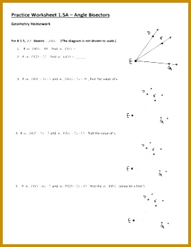 practice worksheet 15a angle bisectors answers 358277