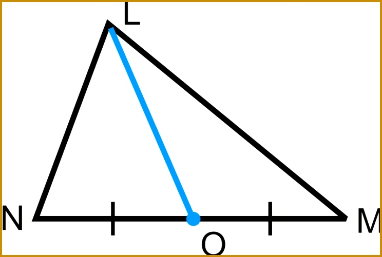 Notice that a median is very different from a perpendicular bisector or an angle bisector A perpendicular bisector also goes through the midpoint 501744