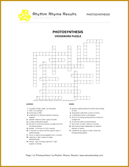 Life Science Crossword synthesis Worksheets Life Best Free Printable Worksheets 639494