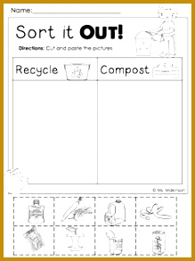 FREEBIE Earth Day Printables Sort it Out Cut and Paste 219293