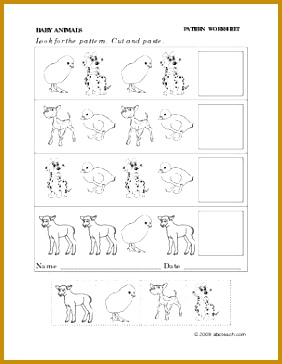 kindergarten cut and paste worksheets 364282