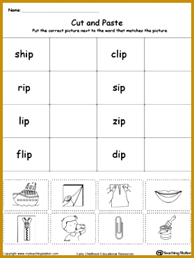 FREE IP Word Family Workbook for Kindergarten Worksheet Topics Reading 372279