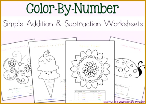 FREE Download Simple Addition and Subtraction Color By Number Worksheets Mamas Learning 348488