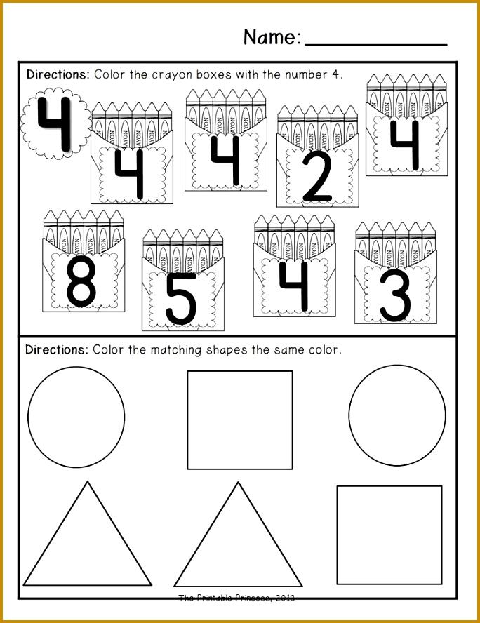 Back to School Morning Work for Kindergarten mon Core Aligned Kindergarten Math WorksheetsPreschool 888684
