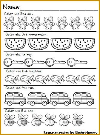 Ordinal Numbers 1st 10th Practice Preschool WorksheetsPreschool 452335