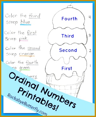 """Ordinal Numbers Printables Pack Let s learn what """"First Second Third Fourth 372305"""