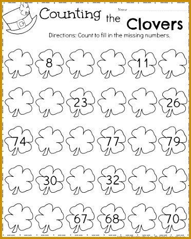 March Kindergarten Math Worksheets Counting 465372