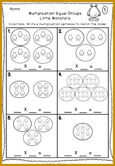 Multiplication Equal Groups Worksheets NO PREP Printables 325225