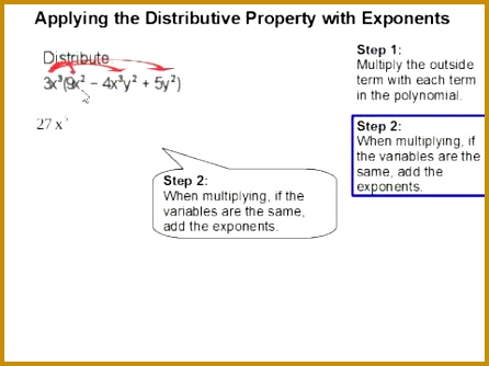 How to Apply the Distribute Property with Exponents 334446
