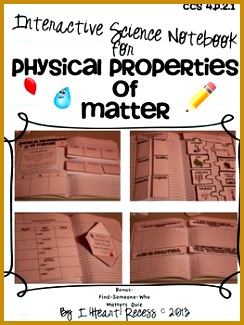 Properties of Matter Interactive Notebook & More 325244