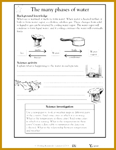 free matter worksheets The many phases of water Worksheets & Activities 308238