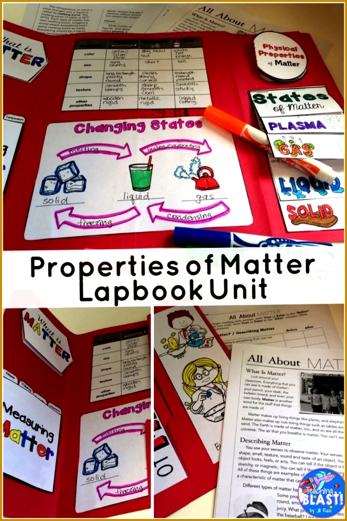 Properties of Matter Unit with Lapbook and Informational Text 6831024
