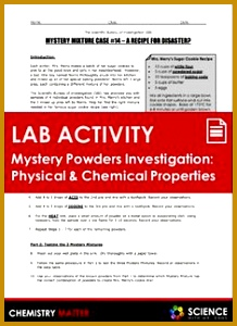 LAB Mystery Powders Physical and Chemical Properties of Matter 300218