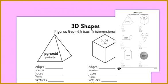 Figuras Geométricas Tridimensionais Worksheets Portuguese Translation portuguese 3d shape properties worksheets 292585