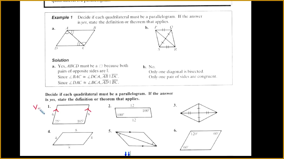 5 2 Ways to Prove that Quadrilaterals are Parallelograms Page 1 1190669