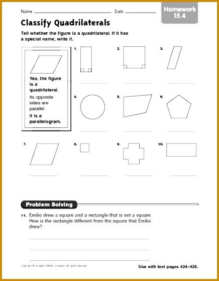 homework properties of parallelograms worksheet answers 558436