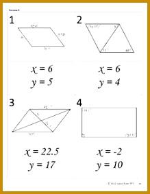 Using Algebra in Geometry Parallelogram Walk Around Activi 283219