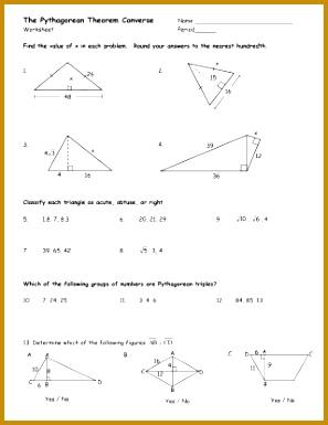 Free Pythagorean Theorem Worksheet Algebra Worksheetss Maths Pythagoras With Abitlikethis Printable Math Worksheets 385297