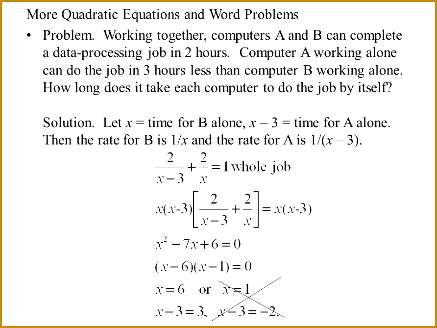 Word Problems For Quadratic Equations Tessshlo 669892