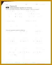 2 pages 9 6 Worksheet solving quadratic equations by factoring 211167