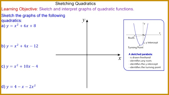 Sketching Quadratic Graphs 315558
