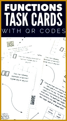 Functions Task Cards with QR Codes 391219