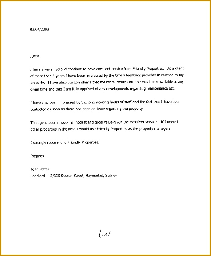 Landlord Reference Letters Landlord Reference Letter Template 10 837690